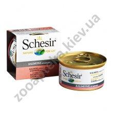 Schesir Salmon Natural Style - корм Шезир лосось в собственном соку для кошек, банка