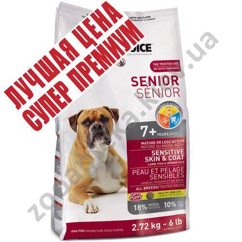 1-st Choice Senior All Breeds - корм Фест Чойс для пожилых собак с чувствительной кожей