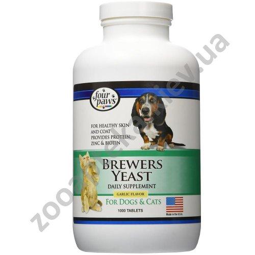 Four Paws Brewers Yeast with Garlic Flavour - витамины Бреверс для здоровья кожи и шерсти