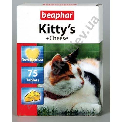 Beaphar Kitty`s Cheese - витаминизированное лакомство Бифар для кошек, со вкусом сыра