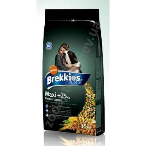 Brekkies Excel Maxi 25+ - корм Брекис для взрослых крупных собак