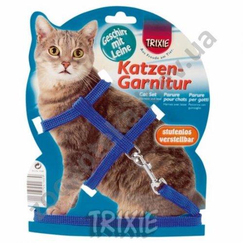 Trixie - нейлонова шлея Тріксі з повідцем для кішок