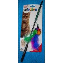 JW Pet Company Wanderfuls - дразнилка Джей Ви Пет Кompani с перьями, блестящая
