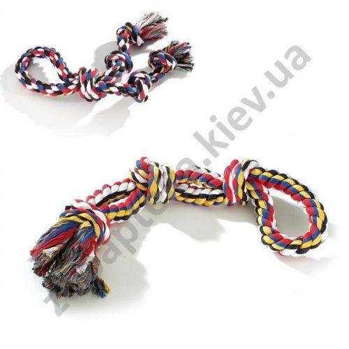 Camon - игрушка Камон канат двойной с 3 узлами и петлей для собак