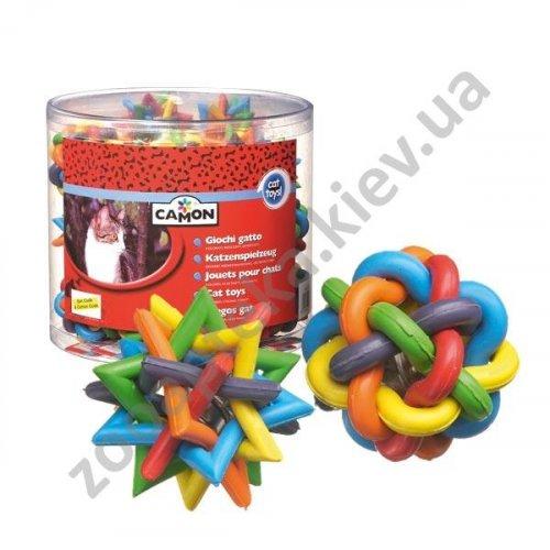 Camon - клубок резиновый Камон цветной для кошек