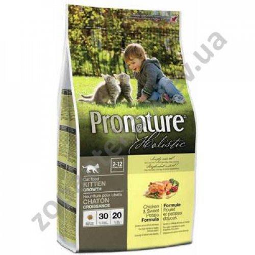 Pronature Holistic - корм Пронатюр курица с бататом для котят