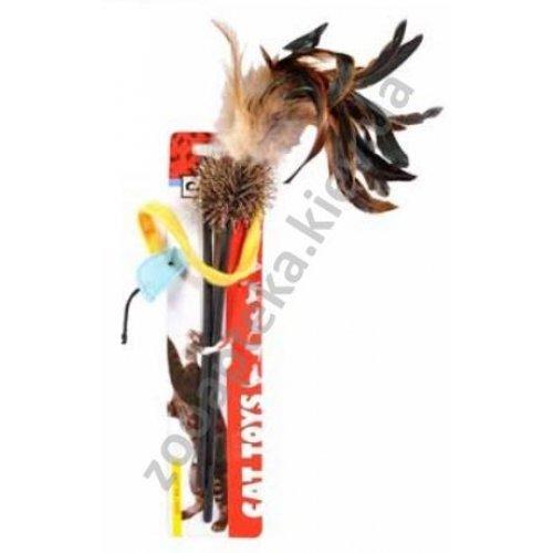 Camon - игрушка Камон прутик с мячом и перьями