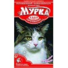 Мурка - красный наполнитель для кошачьего туалета комкующийся крупный