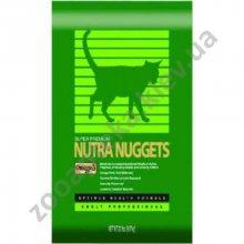 Nutra Nuggets Indoor Hairball Control Formula - Корм Нутра Наггетс Хэрболл (зеленая) для кошек