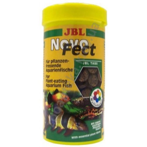 JBL Novo Fect - корм Джей Би Эл в виде таблеток для растительноядных рыб