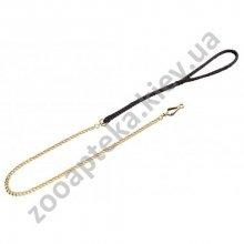 Sprenger - поводок Шпренгер круглое звено позолоченая сталь с черной ручкой