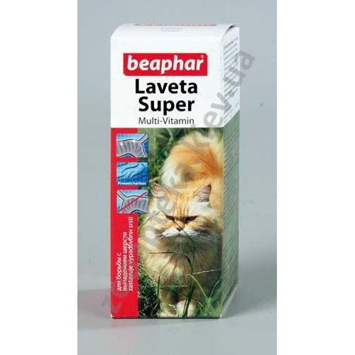 Beaphar Laveta Super For Cats - витамины Бифар для шерсти кошкам