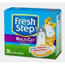 Fresh Step Multi-Cat - комкующийся наполнитель Фреш Степ для кошачьего туалета