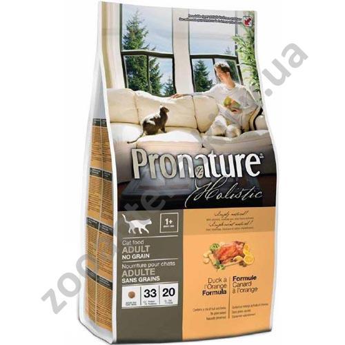 Pronature Holistic - корм Пронатюр Холистик для кошек, с уткой и апельсинами