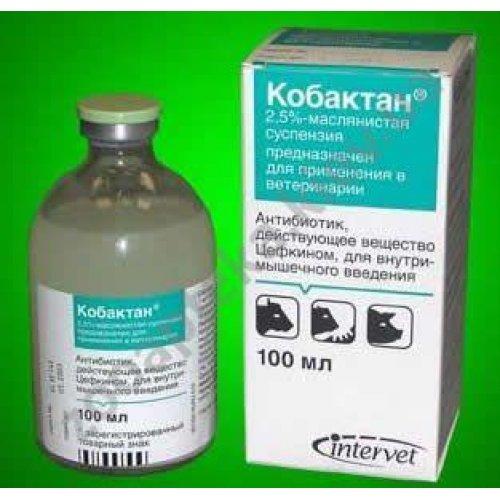 Intervet Cobactan - инъекционная суспензия Интервет Кобактан