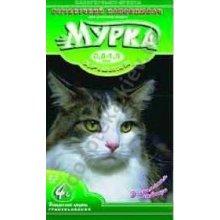Мурка - зеленый наполнитель для кошачьего туалета комкующийся мелкозернистый