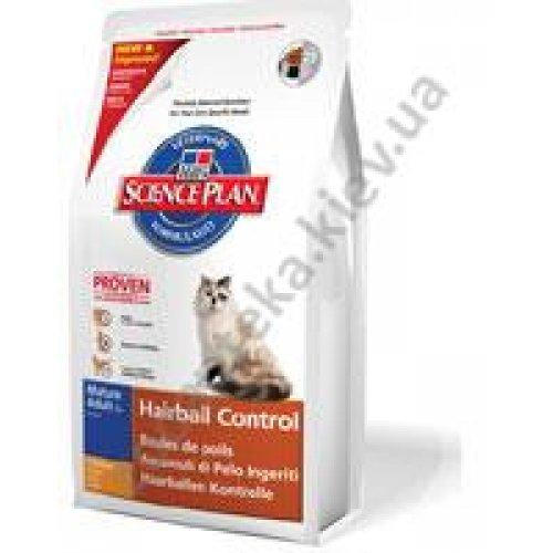 Hills Adult Mature7+ Hairball Control - корм Хилс для кошек старше 7 лет
