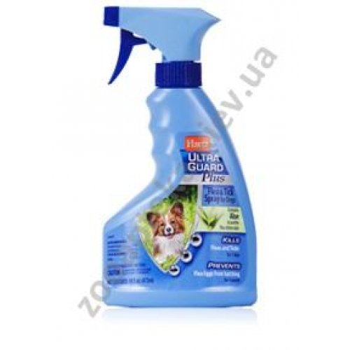 Hartz UltraGuard Plus Flea & Tick Spray for Dogs - спрей Хартц от клещей, блох, блошиных яиц