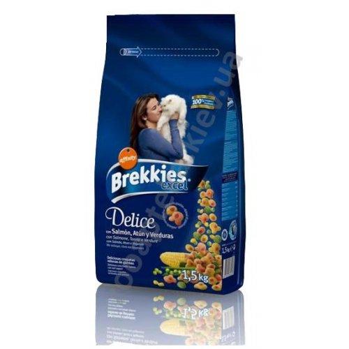 Brekkies Excel Delice Fish - корм Брекис хрустящие рыбные кусочки для кошек