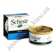 Schesir Tuna - консервы Шезир с тунцом для кошек, банка