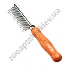 Safari Cat Shedding - расческа Сафари с деревянной ручкой