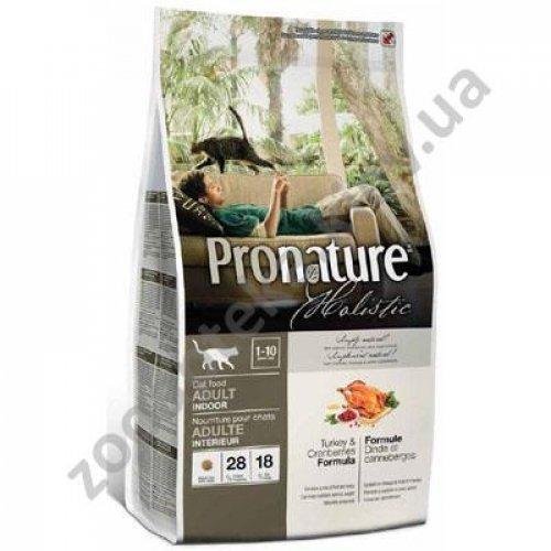 Pronature Holistic - корм пронатюр холистик для взрослых комнатных котов, индейка с клюквой