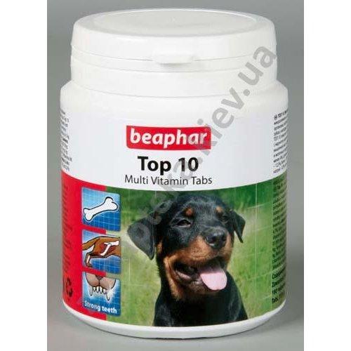 Beaphar Top 10 For Dogs - пищевая добавка Бифар с L-карнитином для собак