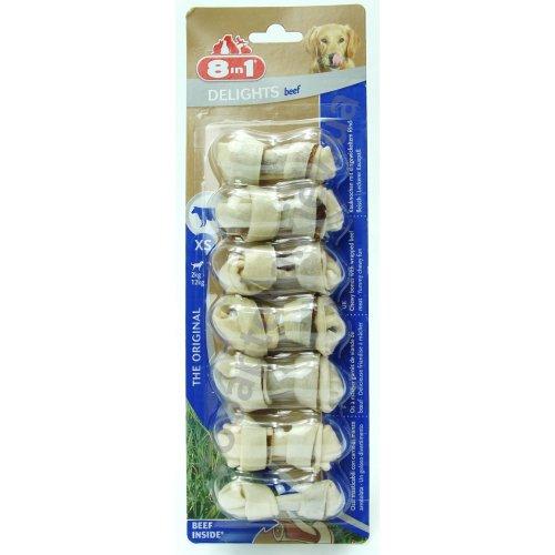 8 in 1 Delights XS - кости для чистки зубов 8 в 1 с говяжьим мясом