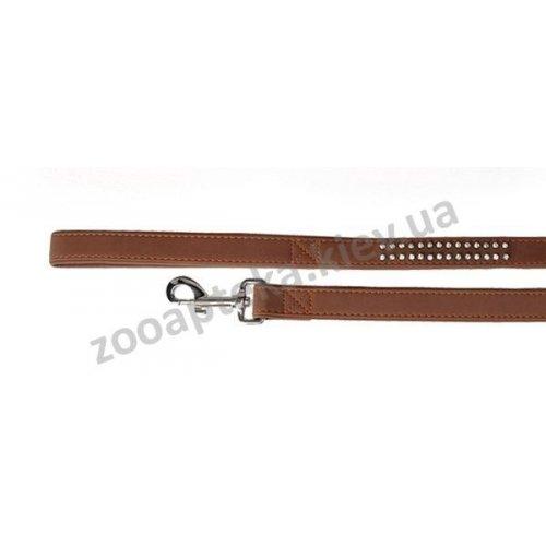 Camon - поводок для собак Камон Шик с украшением, коричневый