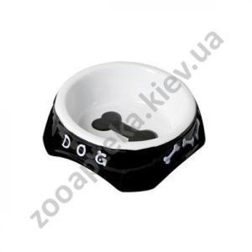 Camon Black and White - миска Камон керамическая для собак