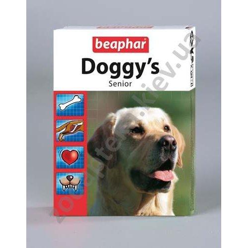 Beaphar Doggys Senior - витаминизированное лакомство Бифар для собак старше 7 лет