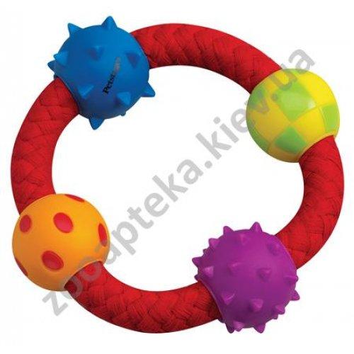 Petstages Multi Texture Chew RIng - игрушка Петстейджес канат - кольцо с мячиками