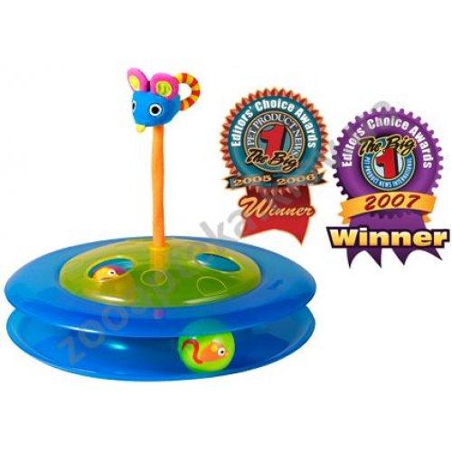 Petstages Cheese Chase - игрушка Петстейджес трек с мячиками и мышкой