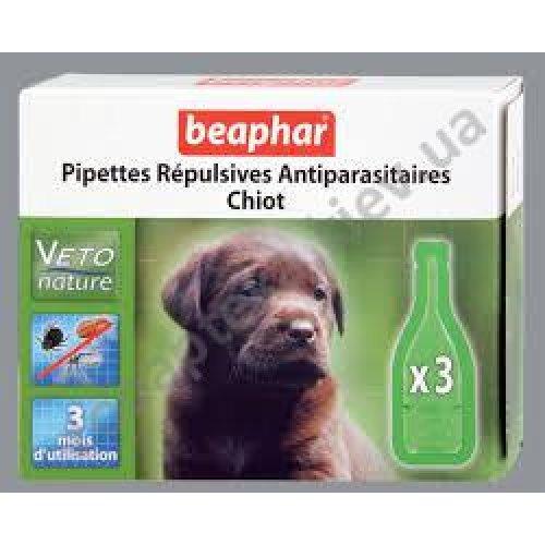 Beaphar Pipettes Repulsives Antiparasitaires Chiot - капли Бифар для щенков