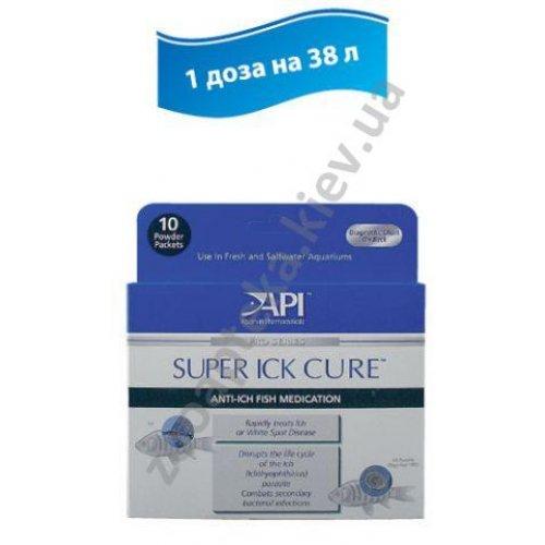 API Super Ick Cure Powder Packets - препарат АПИ против ихтиофтириуса, в пакетиках