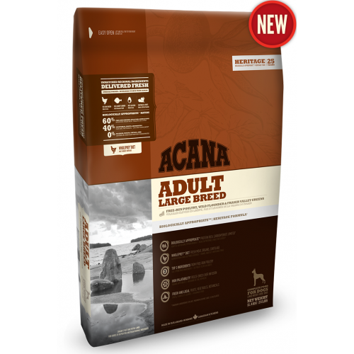 Acana Heritage Adult Large Breed - корм Акана для взрослых собак крупных пород