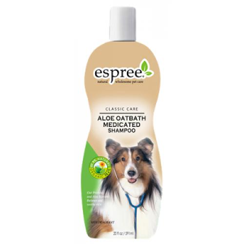 Espree Aloe Oatbath Medicated Shampoo - шампунь Эспри из алоэ и овса для собак