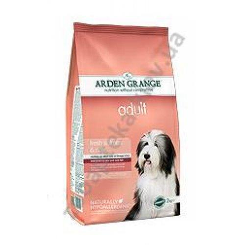 Arden Grange Adult Dog Salmon & Rice - корм Арден Гранж с лососем и рисом для привередливых собак