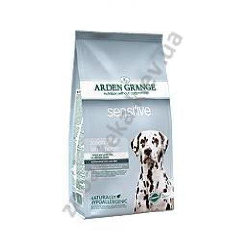 Arden Grange Adult Dog Sensitive - корм Арден Гранж с белой рыбой и картофелем