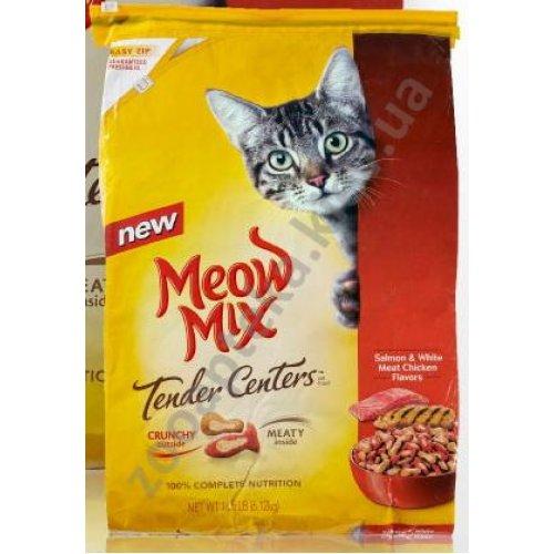 Meow Mix Tender Centers - корм Мяу Микс с лососем и курицей