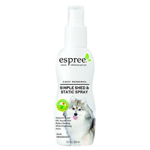 Espree Anti-Shed Itch and Static Spray - спрей Эспри от выпадения шерсти и зуда