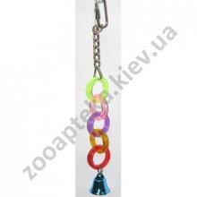 Vo-Toys Rings with bells - кольца с Колокольчиком Во-Тойс игрушка для маленьких птиц акрил