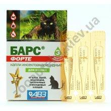 АВЗ Барс Форте - капли от блох и клещей для кошек
