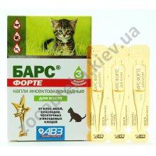 АВЗ Барс Форте - капли от блох и клещей для котят