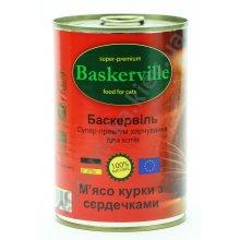 Baskerville - консервы Баскервиль для кошек, с курицей и сердечками