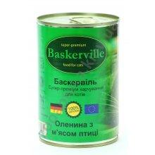 Baskerville - консервы Баскервиль для кошек, с олениной и птицей