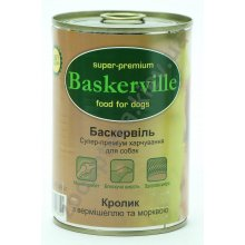 Baskerville - консервы Баскервиль для собак, с кроликом, вермишелью и морковью