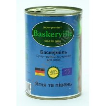 Baskerville - консервы Баскервиль для собак, с ягненком и петухом