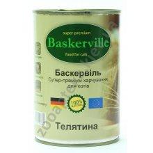 Baskerville - консервы Баскервиль для кошек, с телятиной