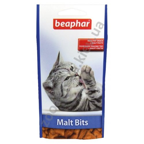 Beaphar Malt-Bits - лакомство Бифар для выведения шерсти из желудка